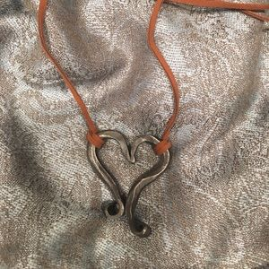 Homemade,hand forged heart necklace